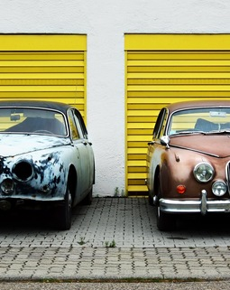 Thumb cars yellow vehicle vintage